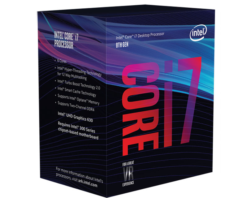 Chíp core i7 8700 ( 3,20 GHz upto 4.20 cache 12MB)